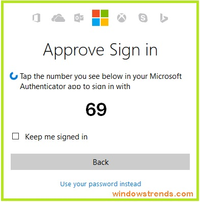 Microsoft account login without password