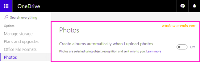 Stop OneDrive From Creating Automatic Photo