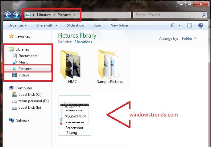 Windows 10 Laptop screenshot KEYBOARD SHORTCUT CTRL PRT SCREEN