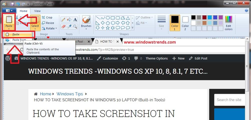 windows 10 screenshot keyboard shortcut ALT + PrtSc Buttons